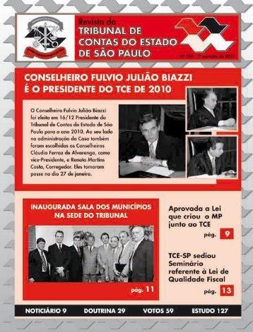 Edição 124 - 1º Semestre de 2010 - Tribunal de Contas do Estado ...