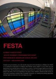FESTA .indd - Irish Museum of Modern Art