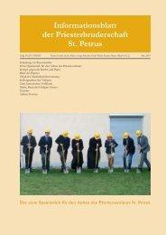 Mai 2010 - Petrusbruderschaft