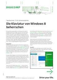 Die Klaviatur von Windows 8 beherrschen - Digicomp