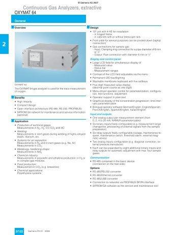 Siemens oxymat 6, model: oxymat 6e, s/n: 7mb2021-1ea00-oca1-z,e20.