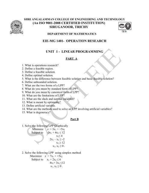 MG1402(OR) - Shri Angalamman College of Engineering and