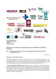 Offener Brief - Stop Assoziierung EU-Zentralamerika