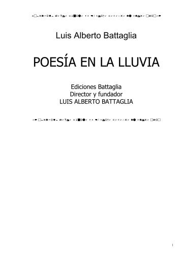 POESÍA EN LA LLUVIA (Luis Alberto Battaglia)