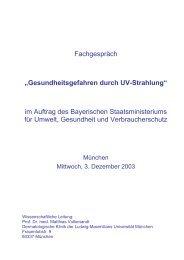 Gesundheitsgefahren durch UV-Strahlung - Bayerisches ...