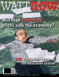 download a PDF of the full April 2009 issue - Watt Now Magazine