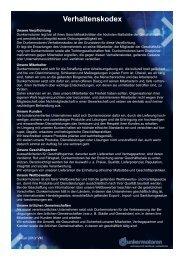 Download des Verhaltenskodex als PDF (293 KB) - Dunkermotoren