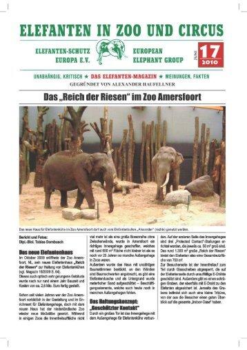 Das Reich der Riesen im Zoo Amersfoort - Elefanten Schutz Europa