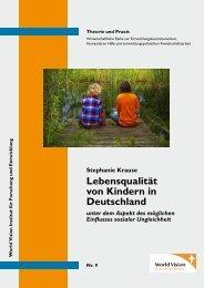 Lebensqualität von Kindern in Deutschland - World Vision Institut