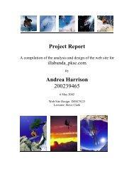 Project Report Andrea Harrison 200239465