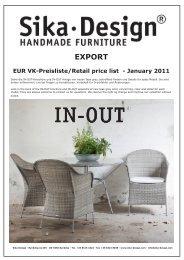 EXPORT EUR VK-Preisliste/Retail price list - Strandkorb & Co.