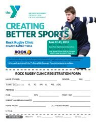 CREATING BETTER SPORTS Rock Rugby Clinic CHASCO FAMILY ...