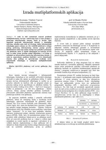 Izrada mutliplatformskih aplikacija - Infoteh
