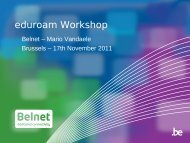 Eduroam Workshop - Belnet - Events