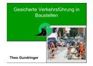 Gesicherte Verkehrsführung in Baustellen - Gestrata