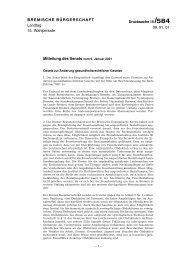 BREMISCHE BÜRGERSCHAFT Landtag 15. Wahlperiode 09. 01 ...