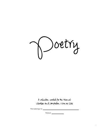 """english 102 poetry essay Poetry paper guidelines english 102: composition ii instructor: y bailey-kirby cited"""" page at the end of your essay."""