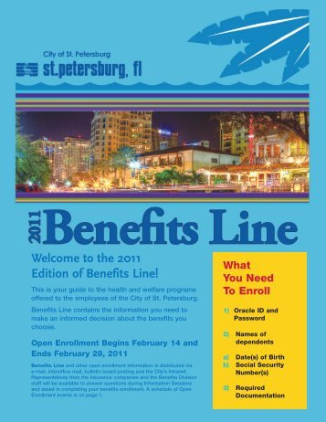 Welcome to the 2011 Edition of Benefits Line! - City of St. Petersburg