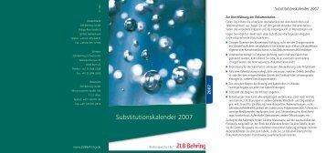 Substitutionskalender 2007 - CSL Behring