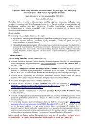 Kryteria i zasady oceny wniosków o dofinansowanie ... - Erasmus