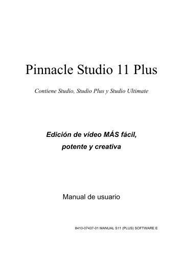 Pinnacle Studio 11 Plus - Mundo Manuales