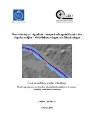 Övervakning av vägsaltets transport och uppträdande i den vägnära ...