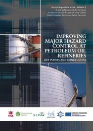 Improving Major Hazard Control at Petroleum Oil ... - IPSC - Europa