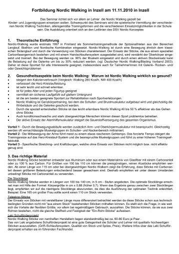 Nordic Walking - Schulsport.muc.kobis.de