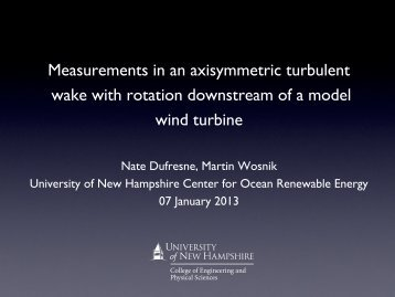 Measurements in an axisymmetric turbulent wake with ... - MREC