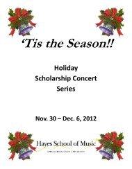 'Tis the Season!! - Hayes School of Music - Appalachian State ...