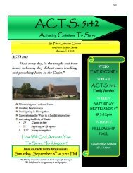 Official Acts June 2012 - St. Peter Lutheran Church Morrison, IL
