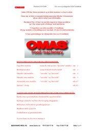 Omas skjæremaskiner - Bernhard Moe AS