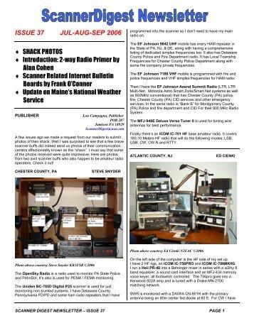 Issue 37 - Scanner Digest Newsletter