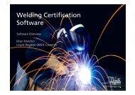 Welding Certification Software - an overview by ... - Lloyd's Register