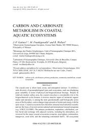 Carbon and carbonate Metabolism in coastal ecosystems
