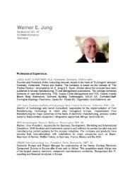 Werner E. Jung - Strategos, Inc.