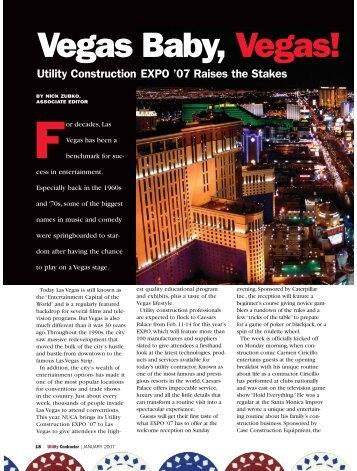 Feature Story - Utility Contractor