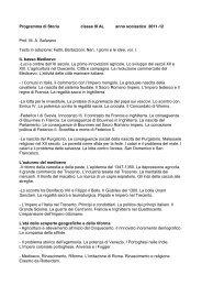 Programma di Storia classe III AL anno scolastico ... - Licei Manzoni