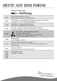 Rolf Wagner - Senioren-Forum Basel