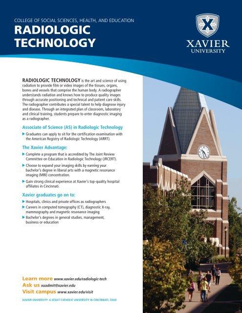 RADIOLOGIC TECHNOLOGY - Xavier University