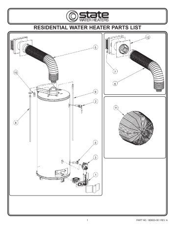 A O Smith Gas Water Heater Parts on ge electric water heater wiring diagram