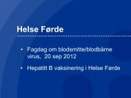 Hepatitt B vaksinering - Helse Førde