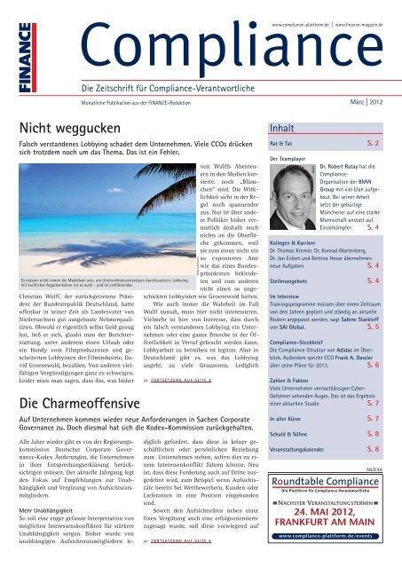 (PDF)   Ausgabe März 2012 - Compliance