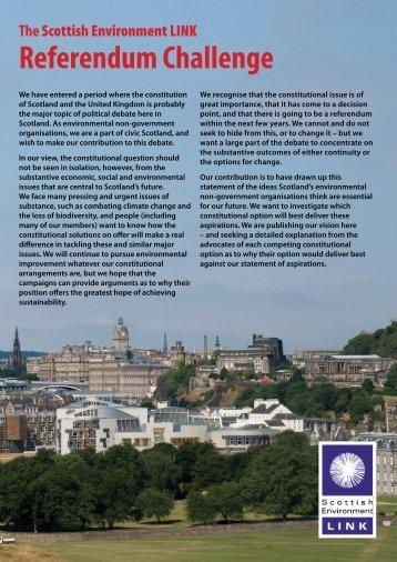Referendum Challenge - Scottish Environment LINK