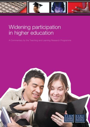 Widening participation in higher education - Teaching and Learning ...