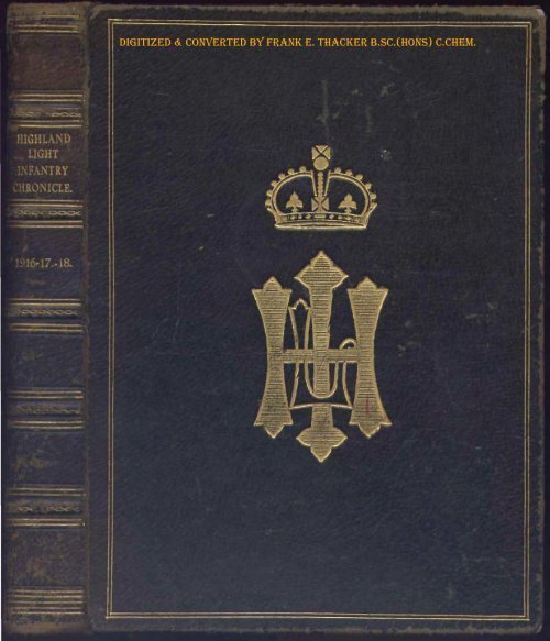 Brilliant Hli Chronicle 1916 The Royal Highland Fusiliers Pdpeps Interior Chair Design Pdpepsorg