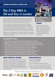 The 3 Day MBA in Oil and Gas in London - Warren Business ...