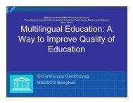 17.3.1: Mother Tongue Language Education - UNESCO Bangkok
