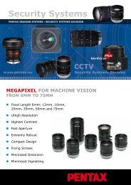 Megapixel For Machine Vision From 6mm To 75mm - Security Systems
