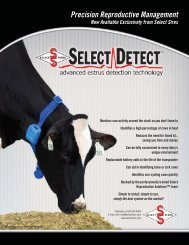 Precision Reproductive Management - Select Sires